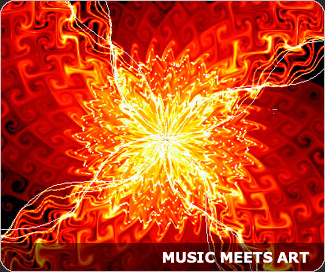 Music meets art: music player visualizer screenshots